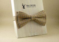 Brown bow tie  Colorful  Adult Bow Tie  Mens by MrDEERbowtie