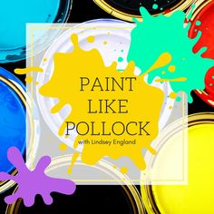 Paint like Pollock w/ Lindsey England Friday, December Creative Labs, Product Page, December, Elephant, England, Friday, Painting, Painting Art, Elephants