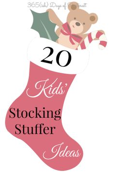 Over twenty ideas each for boys and girls' stockings this Christmas! Stocking stuffers are so fun!
