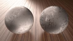 Frost balls (3d rendered)