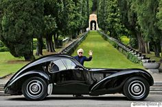 Ralph Lauren and his magnificent 1938 Bugatti Type 57SC Atlantic (chassis #57591). <3