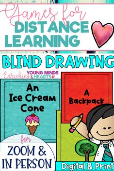 Blind Drawing is a fun and engaging game, that can be played in person or remotely on zoom and Google Meet. In this NO PREP game, students are shown the name of an object, and they have to blindly draw it by putting their piece of paper on top of their head. It comes with two sets of object cards: one with pictures and one without. This engaging game can be used as a brain break between lessons, an incentive for participation or a classroom reward! Click the link to check out this awesome game!