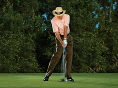 To consistently make better contact and finish your swing in a comfortable pose, follow these four steps for improved lower-body action.