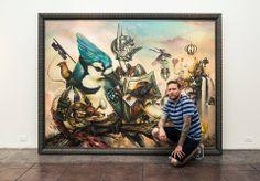 Giant painting of Greg Simkins