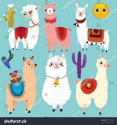 Photo May 05 2019 at Lamas maniacs Alpacas, Images Lama, Llamas Animal, Cartoon Llama, Alpaca Cartoon, Cartoon Network, Llama Arts, Llama Face, Decoupage