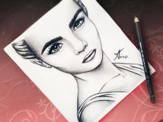Cara Delevingne drawing by @Artistinx