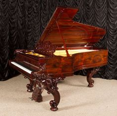 Steinway & Sons Rococo Style 1 Victorian Grand Piano | The Antique Piano Shop