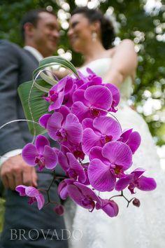 PURPLE ORCHID WEDDING BOUQUET!!! | Brovado Weddings
