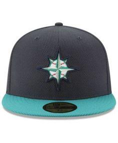 2d24d023fa6 New Era Seattle Mariners Batting Practice Diamond Era 59FIFTY Cap - Blue 7  1 2