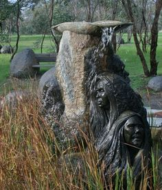 "Shepherds Hill Road, Karinya Reserve, Eden Hills, SA. Memorial site is where the Colebrook Training Home once stood. It is now a permanent memorial for the Aboriginal children of the ""Stolen Generation"" and their families. The Fountain of Tears was created in 1998 by Silvio Apponyi (born 1949). Silvio is based in the Adelaide Hills, and has been sculpting for over 40 years. His main inspiration is Australian fauna and he uses wood, Australian granites, marbles and bronze."
