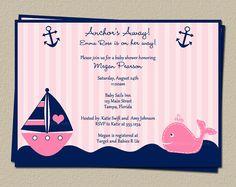 Digital Girls Nautical Baby Shower Invitation by TheInviteLadyShop, $15.00