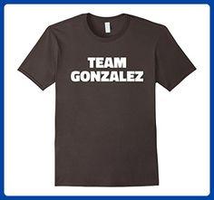 Mens Team Gonzales T Shirt - Last Name Family T-Shirt Large Asphalt - Relatives and family shirts (*Amazon Partner-Link)