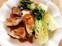 Get this all-star, easy-to-follow Grilled Pork Tenderloin with Baby Bok Choy recipe from Ree Drummond