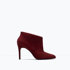 Image 1 of Suede high-heel booties from Zara