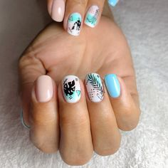 spring nails you must try in 2020 18 Cute Acrylic Nails, Cute Nails, Pretty Nails, Gel Nails, Spring Nail Art, Spring Nails, Summer Nails, Vacation Nails, Dream Nails