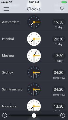 Clocks for iOS 7 - by Kubilay Sapayer | #ui #ios