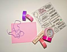 Fiore di maggio: Bigliettini di buon compleanno - ghirlanda di washi tape in preparazione