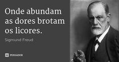 Onde abundam as dores brotam os licores. — Sigmund Freud