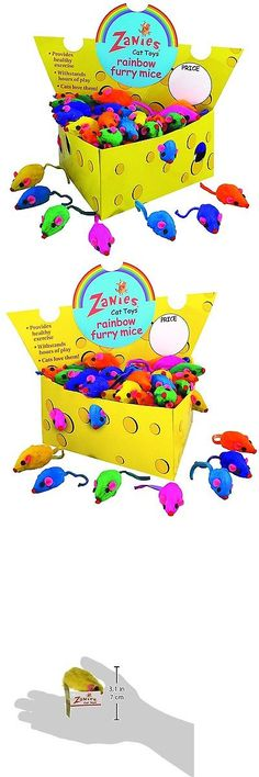 Toys 20741: Zanies Cheese Wedge Display Boxes 60 Furry Mice Toys For Cats Rainbow -> BUY IT NOW ONLY: $32.58 on eBay!