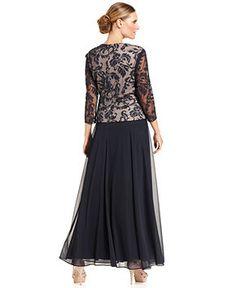 mother of the bride dresses tea length macy's
