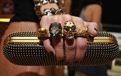 Alexander McQueen knuckle duster clutch... need!