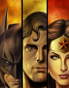 DC Trinity: Batman, Superman and Wonder Woman. Comic Book Characters, Comic Book Heroes, Comic Character, Comic Books Art, Comic Art, Bruce Timm, Dc Comics Art, Marvel Dc Comics, Green Arrow