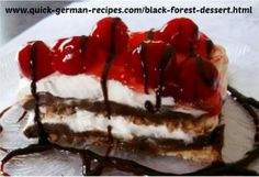Black Forest Cake taste without all the fuss. Click here to try this Black Forest Dessert: http://www.quick-german-recipes.com/black-forest-dessert.html