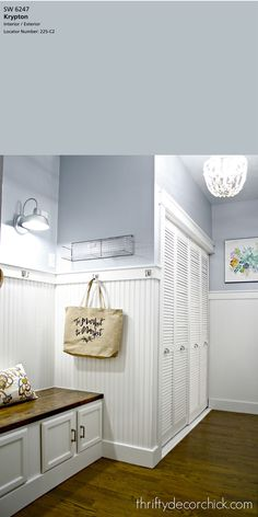 The Best 5 Blue Gray Paint Colors The Best 5 Blue Gray Paint Colors Brilliant gray and white master bathroom ideas bathroomdecor painting gray bathroomremodel bathroomc Bluish Gray Paint, Blue Gray Paint Colors, Color Blue, Light Paint Colors, Shades Of Grey Paint, Neutral Paint, Interior Paint Colors, Paint Colors For Home, Paint Colors For Kitchens