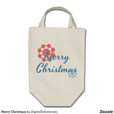 Merry Christmas Grocery Tote Bag
