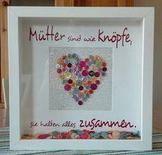 Mütter sind wie Knöpfe, Muttertag, Herz, Ribba, Vinyl, Cameo
