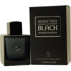 Antoino Banderas Seduction In Black for Men Eau-de-Toilette Spray, 3.4-Ounce by Antonio Banderas. $18.49. This item is not for sale in Catalina Island. With oriental notes of amber. Filled with fiery spicy notes. Fresh and sensual notes. Seduction in black for men by antonio banderas has oriental notes of amber are mixed with warm, woody accords in a very juicy and spicy way, along with fresh and sensual notes. Top notes include luminous sparkles of bergamot with tart ...