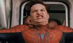 Image result for tobey maguire spiderman face