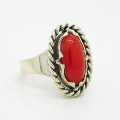 Other Fine Rings Vintage Red Stone Ring In The Oly Style 835 Silver