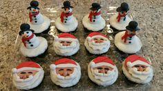 Christmas cupcakes, so adorable!! Deb's