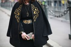 BAROQUE INSPIRED CAPE AND BELT FOR FALL 2013