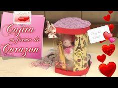 Cajas de regalo en forma de corazón con material reciclado | Manualidades