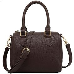 FASH Charming Bowling Handbag Style Barrel Office Purse Shoulder Handbag,Brown,One Size. Visit website to read more description.