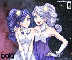 realistic anime characters different skin color   Lonely Star - Gemini Twins by junosama