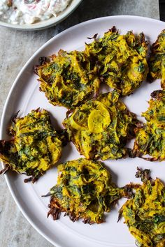 Meera's Baked Spring Allium Bhajis – Diaspora Co. Baked Onions, Crispy Onions, Indian Food Recipes, Vegan Recipes, Veggie Fritters, Allium, Fresh Ginger, Original Recipe, Canola Oil
