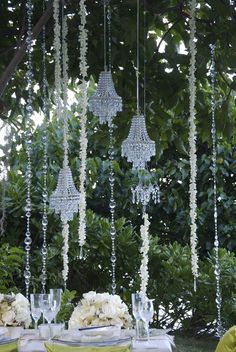 Gorgeous crystal decor