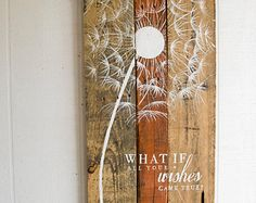 Pallet Art Sunflower Welcome Home Wall von TealElephantBoutique