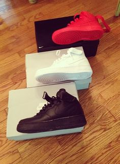 I have all three of those but of course my favorite one us the cocaine whites. Gotta have in both high top and low rise