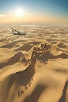 Over the Sahara desert…