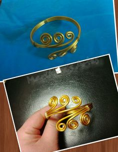 pulseira feito com arame de aluminio