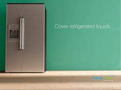 Cover any liquids you store in the refrigerator. Uncovered liquids will give off humidity that requires the fridge to use more energy to keep the temperature regulated. #InfiniteEnergy #DoingMoreForYou