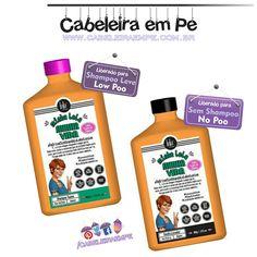 Shampoo e Condicionador Minha Lola Minha Vida - Lola Cosmetics com óleo de Cártamo (Shampoo liberado para Low Poo -  Shampoo Leve e condicionador liberado para No Poo -  Sem Shampoo).