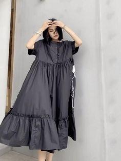 Muslim Fashion, Hijab Fashion, Boho Fashion, Fashion Dresses, Stylish Dresses For Girls, Casual Summer Dresses, Simple Dresses, Dress Summer, Classy Dress