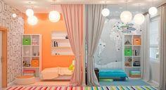 разделение на зоны (для мальчика и девочки) комнаты