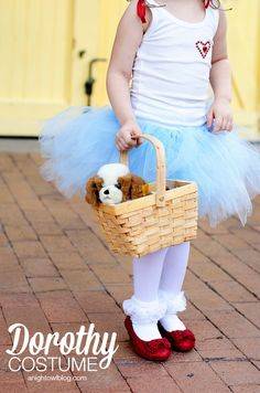 If you're looking for an easy no-sew costume for your little one this year, look no further than this adorable Wizard of Oz Dorothy Costume! Maleficent Halloween Costume, Best Diy Halloween Costumes, Halloween 2017, Holidays Halloween, Halloween Kids, Halloween Party, Wizard Of Oz Dorothy Costume, Tutu Costumes, Costume Ideas