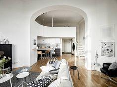 Neue Wohnung, Einrichtung, Wohnzimmer, Innenarchitektur, Wohnräume,  Wohnzimmer, Wohnungen, Maisonette Wohnung, Weiß Wohnung